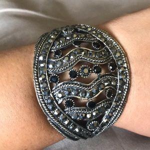 Jewelry - Cuff Bracelet With Sparkly Faux Stones